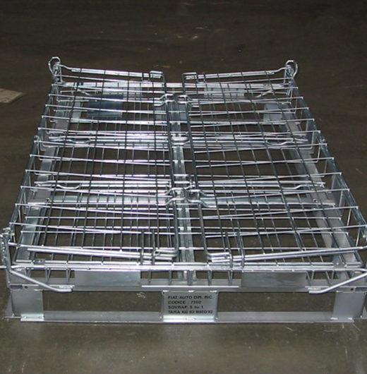 Conteneur en fils métalliques démontés