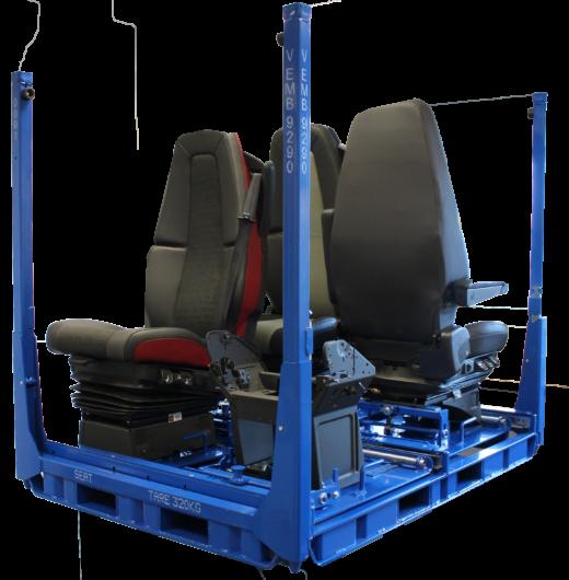 Conditionnement siège avec support amovible