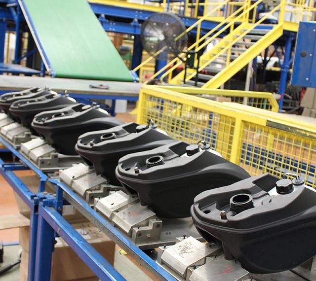 Tank assembly line