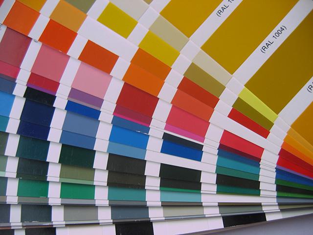 nuancier couleurs plastiques
