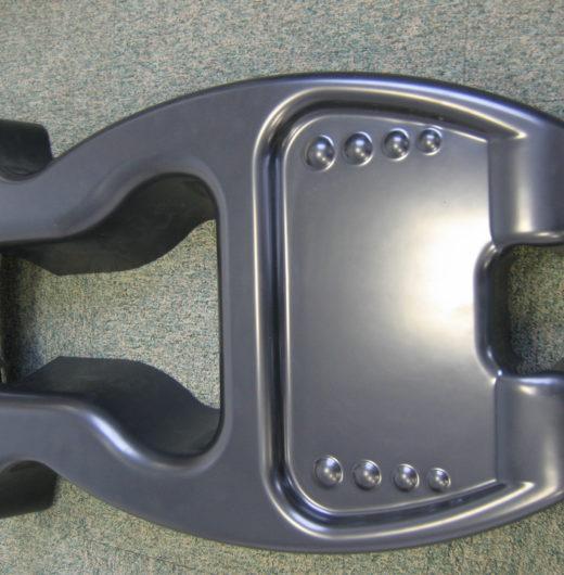 cache roue thermoformé pour lit médicalisé