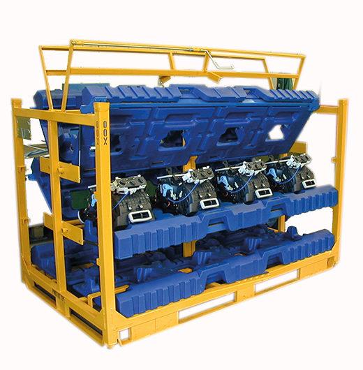 Conteneur spécifique pour groupe de climatisation