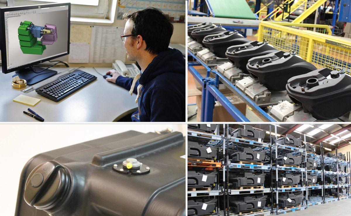 conception et fabrication de réservoirs plastiques spécifiques