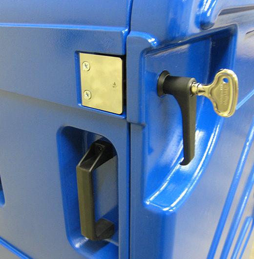 detail serrure conteneur isotherme